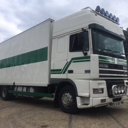 1998/S DAF XF 380 Superspace Cab 4×2 24ft Boxvan MOT NOV19